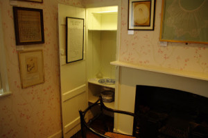 Wash basin and chamber in Janes room pot Chawton